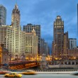 Chicago am Flussufer — Stockfoto