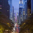 42nd street in Manhattan. — Stock Photo