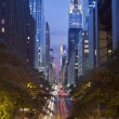42nd street in Manhattan. - Stock Photo