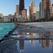 Chicago skyline. — Stockfoto