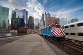 Chicago Metra Train. — Stock Photo