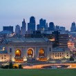 panorama sullo skyline di Kansas city — Foto Stock