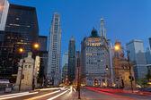 Michigan avenue à chicago. — Photo