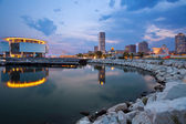 City of Milwaukee skyline. — 图库照片