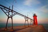South Haven Lighthouse. — Stock Photo