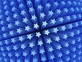3d blue stars — Stock Photo