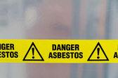 Aviso de asbesto — Foto de Stock