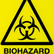 Close up biohazard sign - Stock Photo