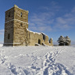 Knowlton Church in Winter — Stock Photo