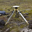 Stock Photo: Ground positioning equipment monitoring for earthquake and volca