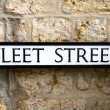 Fleet Street road sign — Stock Photo
