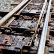 Narrow guage railway points - Stock Photo