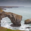 Green Bridge or Bridge of Wales sea arch — Stock Photo