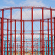 Group of three restored gasholders - Foto de Stock