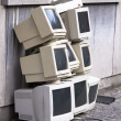 Pile of old crt monitors — Stock Photo