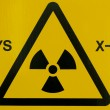 X-ray warning sign — Stock Photo