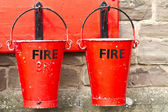 Two Fire Buckets — Stock Photo