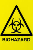 Close up biohazard sign — Stock Photo