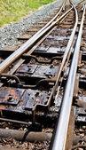 Points de chemin de fer étroit d'essence — Photo