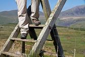 Hillwalking in Wales — Stock Photo