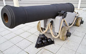 British naval canon — Stock Photo
