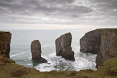 Elegug Stacks, Pembrokeshire, Wales — Stock Photo