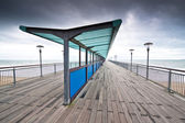 Boscombe Pier on a stormy day — Stock Photo