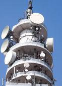 Telecom Tower against a blue sky — Stock Photo