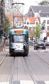Tram approaching — Stock Photo