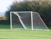 Empty soccer goal — Stock Photo