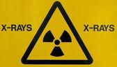 X-ray warning sign — Stock Photo