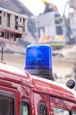 Fire Engine Blue Flashing Light — Stock Photo