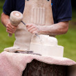 Sculptor at work — Stock Photo