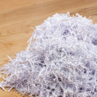 Pile of shredded documents on the floor — Stock Photo