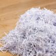 Pile of shredded documents on the floor — Stock Photo