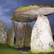 Stock Photo: Pentre IfBronze Age burial chamber, Wales