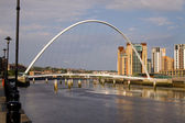 The Millenium Bridge, Newcastle-upon-Tyne UK — Stock Photo