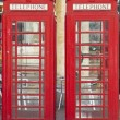 Two British red telephone boxes — Stock Photo