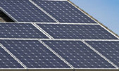 Close up of solar energy array — Stock Photo