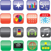Iphone and Ipad Icons - Set 1 — Stock Vector