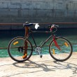 The bike and the sea - Foto de Stock