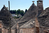 Travel to southern Italy. Alberobello — Stock Photo