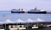 The seaport of Bari — Foto Stock