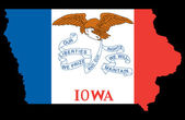 State of Iowa — Foto de Stock