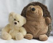 Bear and hedgehog — Stock Photo