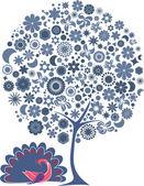 Blue tree — Stock Photo