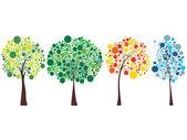 Seasonal trees — Stock Photo
