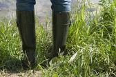 Boot fishing — Stock Photo