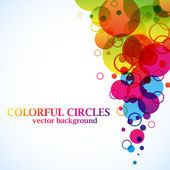 Abstract spectrum circles background with copy space. — Stock Vector
