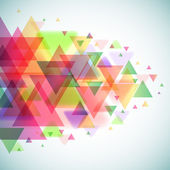 Abstract colorful triangles vector background. — Stock Vector